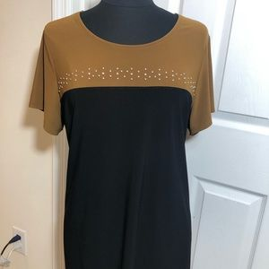 Coldwater Creek Colorblock Black Brown Size XL 16
